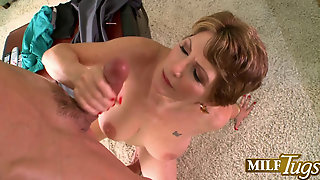 Bea Cummins Playing With Cock