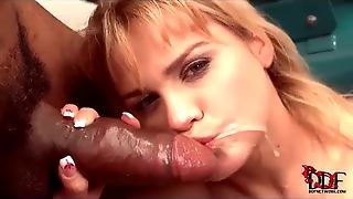 She Sucks His Black Balls And Cock