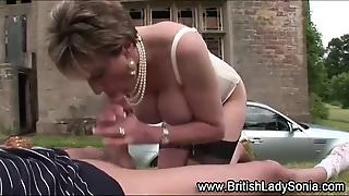 Lady Sonia Swallows Cum