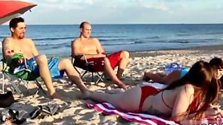 Big Tit Cougar Foursome Beach Bait And Switch