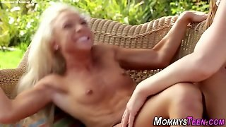 Mature Stepmom Rides Face