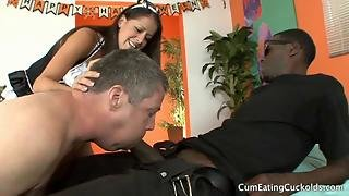 Hailey Shoves Her Hubbys Face On That Black Cock