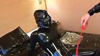 Latex Catsuit & Bagged Breath Play Fucking