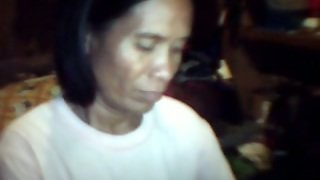 Ugly Skinny Filipina Mom Shows Her Flabby Boobs For The Webcam
