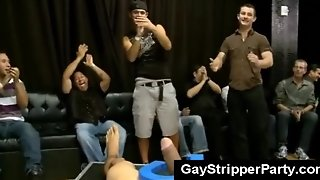 Male Audience Goes Wild On Gay Stripper