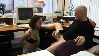 Hijab Babe Fucking At Office