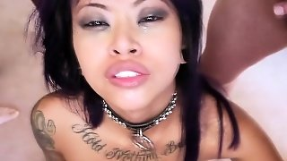Asian Slut Swallows Pov