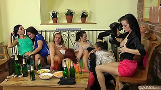 Drunk Lesbian Dolls Having An Orgy At A Party
