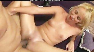 Lovely Blonde Craves For Black Seed  Interracial Creampie