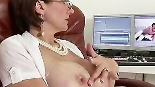 Lady Sonia Gets A Cumshot On Her Big Tits