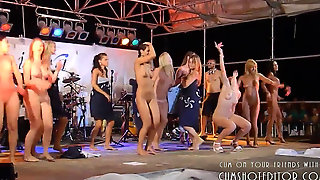 Women Partying Naked On Stage
