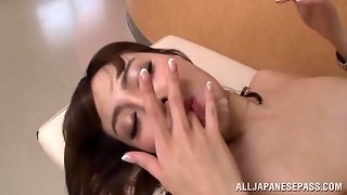 Mao Miyabi Sexy Asian Babe Flaunts Her Shaved Pussy For Sex