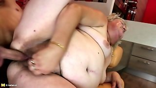 European Granny And Mature Mom Get Young Cocks