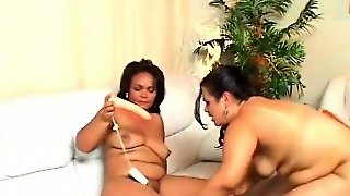 Bbw, Black And Ebony, Lesbian, Fingering, Brunette, Toys