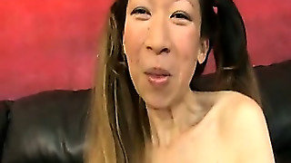 Asian Likes Being Treated Like Trash As She Smiles And Laughs For The Camera