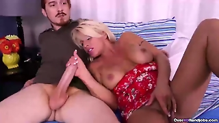 Busty Milf Seduces A Young Guy