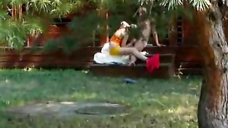 Amateur Teens Playing Outdoors