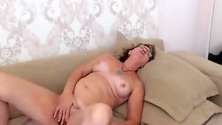 Grandma Masturbating On Webcam