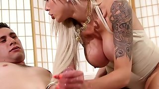 Bigtits Mature Cocksucking And Jizzed On Tits