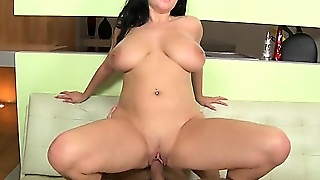 Shione Dominates With Her Powerful Tits.