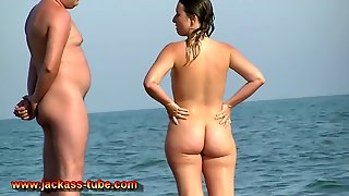 Horny Amateur Video With Beach, Nudism Scenes