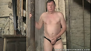 Stocky Daddy Jerking His Cock