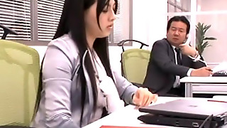Saori Hara Is A Nice Asian Teen In An Office Suit