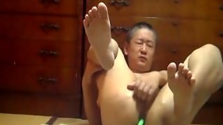 Mature Japanese Daddy Jerkoff