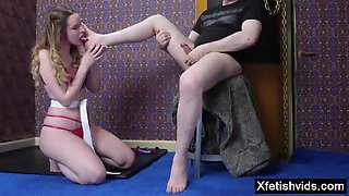 Hot Slave Spanking And Cum Swallow
