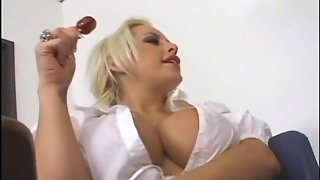 Anal 101 For Bigtitted Blonde