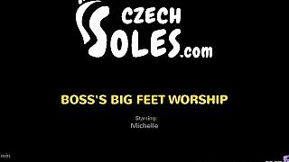 Boss's Big Feet Worship