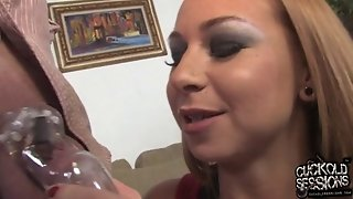 Scarlett Pain Is Real Pain For Cuckold Husband
