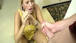 Mom Gets Blowjob From Mom