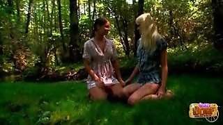 Amazing Teen Lesbians Outdoors In The Woods
