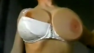 Super Hot And Busty House Wife Shows Off Her Appetizingly Huge Brassiere Buddies
