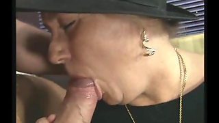 Horny Grandma Loves To Suck Off A Stiff Cock And Fuck