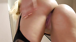 Blonde Babe Does Anal With Old Man