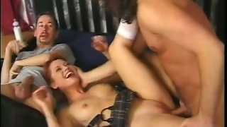Incredible And Hot Redhead White Girl Fucked Hard On The Bed
