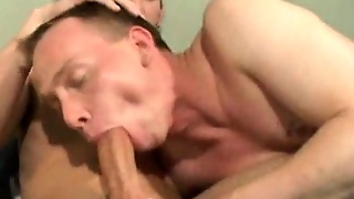 Uninhibited Gay Adam Slurping An Impossible Schlong On The