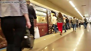Russian Blondes Ass In Metro