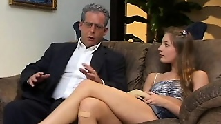 Aurora Snow Is A Naughty College Babe Eager To Get Fucked By Two Guys