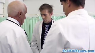 Squirting Babe Pussy Fucked By Doctor