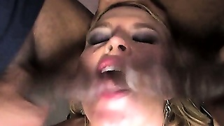 Interracial Gang Bang For Slut