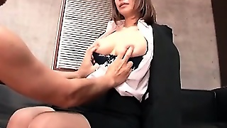 Jap Busty Secretary Getting Assets Teased In Her Bosses