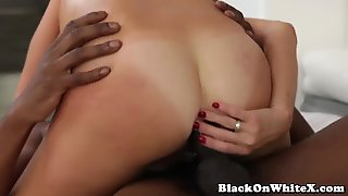 Interracial Busty Babe Anal Fucked With Bbc