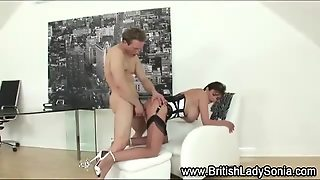 Lady Sonia Eats Cock