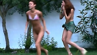 Russian Chicks Watersports In The Outdoor