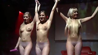 Lesbian Orgy On Public Stage