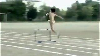 Japanese Princess Runs The Hurdles In The Nude