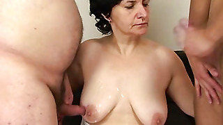 Mature Couple Brings In Young Man